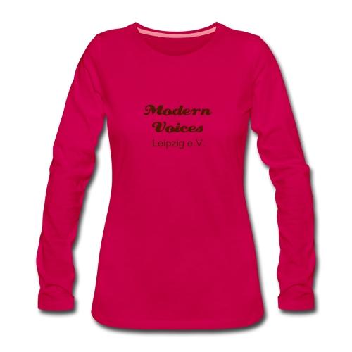 Damenshirt mit langem Arm, Druckfarbe Braun - Frauen Premium Langarmshirt