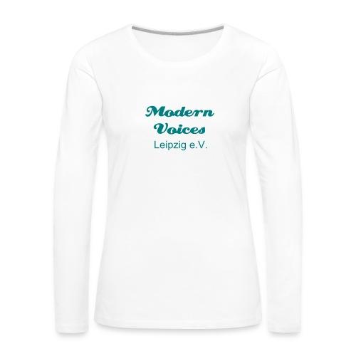 Damenshirt mit langem Arm, Druckfarbe Smaragdgrün - Frauen Premium Langarmshirt