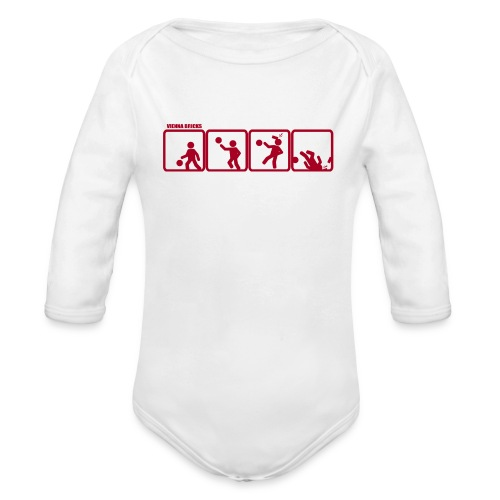 Baby-Defense (White/Red) - Baby Bio-Langarm-Body