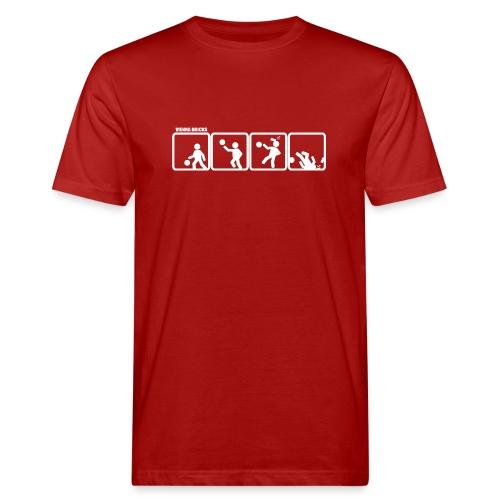 Defense (Red/White) - Männer Bio-T-Shirt
