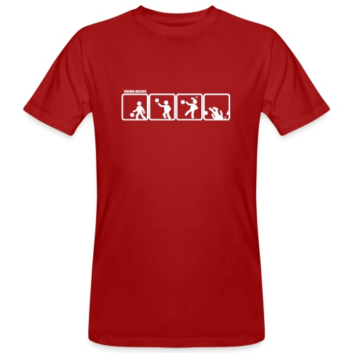 Defense (Red/White) - Männer Bio-T-Shirt