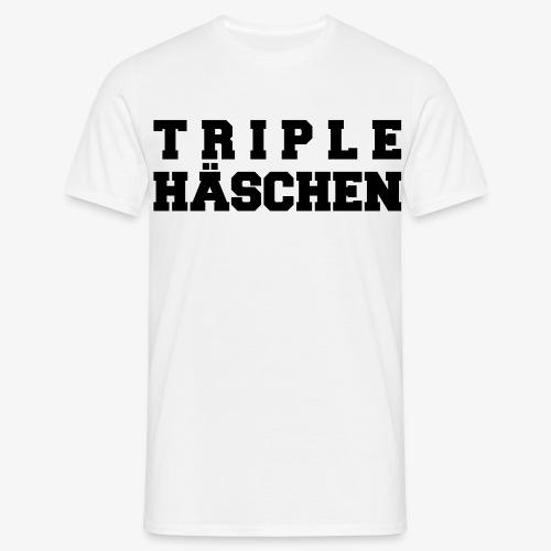 Triplehäschen (für Herren) - Männer T-Shirt