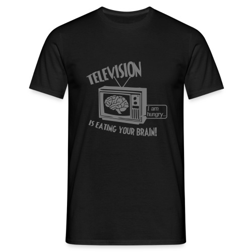 Hungry TV (silver) - Men's T-Shirt