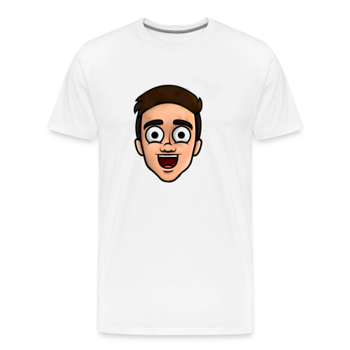 'Nielsow cartoon' T-shirt man (wit) - Mannen Premium T-shirt