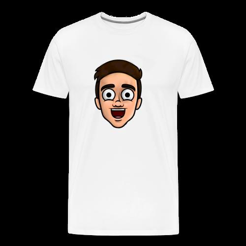 'Nielsow cartoon' T-shirt man (wit) - Mannen Premium T-shirt
