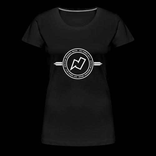 'Nielsow cirkel' T-shirt vrouw (zwart)  - Vrouwen Premium T-shirt