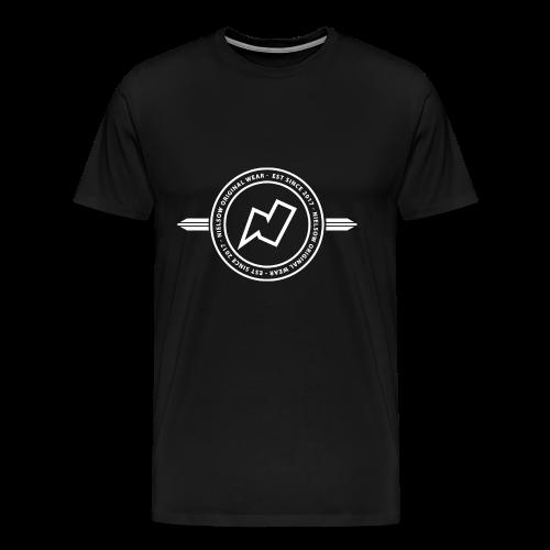 'Nielsow cirkel' T-shirt man (zwart)  - Mannen Premium T-shirt