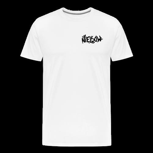 'Nielsow signature' T-shirt man (wit)  - Mannen Premium T-shirt