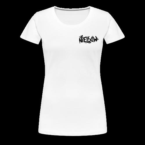 'Nielsow signature' T-shirt vrouw (wit)  - Vrouwen Premium T-shirt
