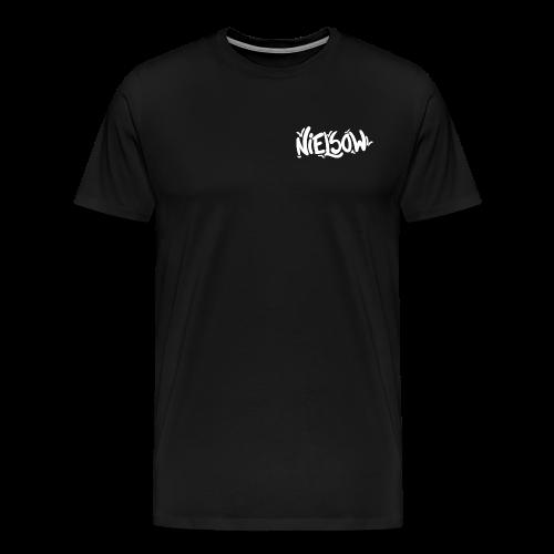 'Nielsow signature' T-shirt man (zwart)  - Mannen Premium T-shirt