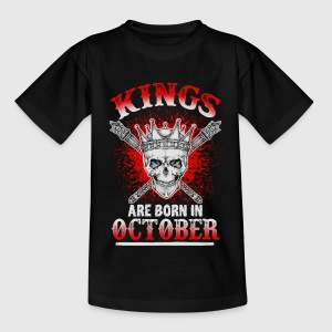 October - King - birthday - 3 - EN Shirts - Kids' T-Shirt