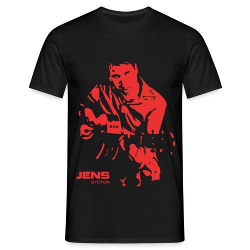 Herren T-Shirt Jens S. Gitarre rot  - Männer T-Shirt