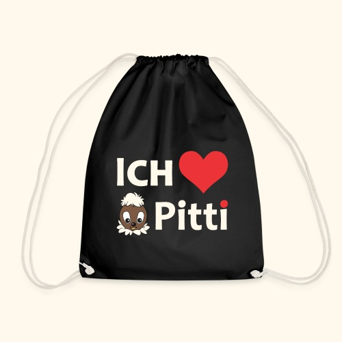 Turnbeutel Ich liebe Pitti - Turnbeutel