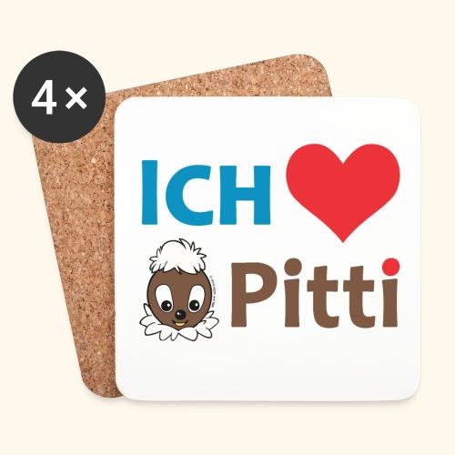 Untersetzer (4er-Set) Ich liebe Pitti  - Untersetzer (4er-Set)