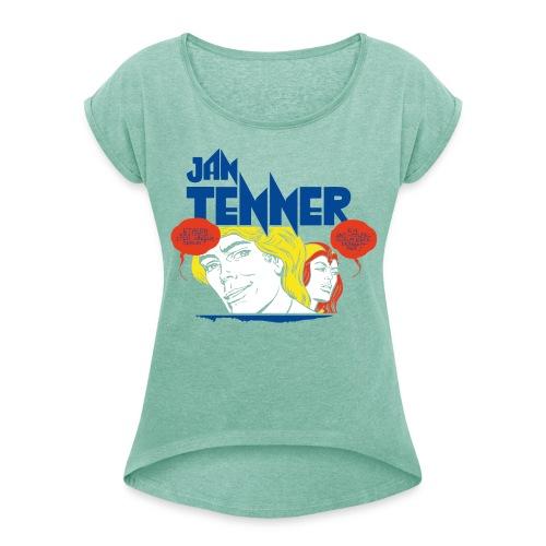 Jan Tenner Sprechblasen - Frauen T-Shirt mit gerollten Ärmeln