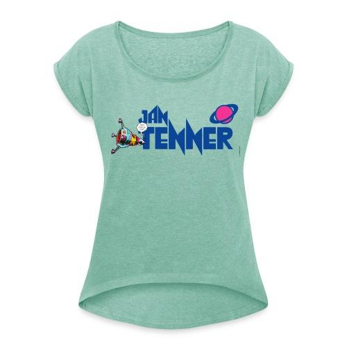 Jan Tenner Raumsonde Planet - Frauen T-Shirt mit gerollten Ärmeln