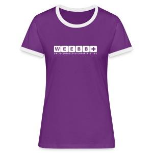 T-Shirt Contrast Woman - |W|E|E|B|B| - Women's Ringer T-Shirt