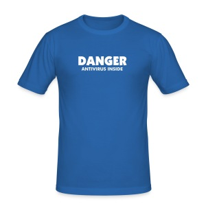 T-Shirt Slim Man - DANGER Antivirus - Men's Slim Fit T-Shirt