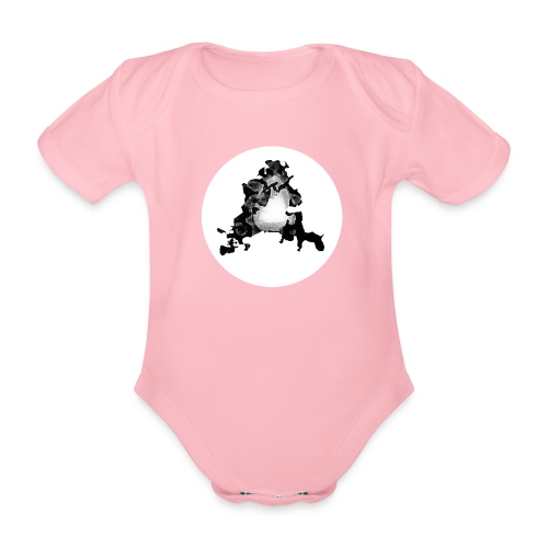 Buchstabe A - Baby Bio-Kurzarm-Body