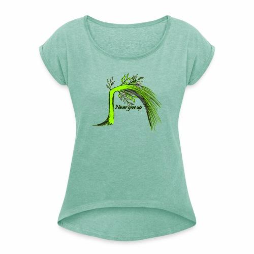 Lebensbaum - lockeres Frauen T-Shirt - Frauen T-Shirt mit gerollten Ärmeln