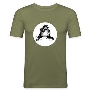 Buchstabe A - Männer Slim Fit T-Shirt
