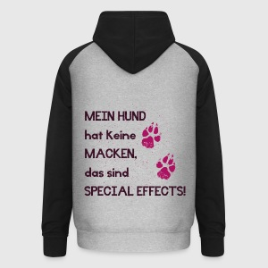special effects pink Pullover & Hoodies - Unisex Baseball Hoodie