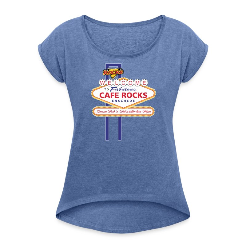 Welcome to Fabulous Rocks (Ladies) - Vrouwen T-shirt met opgerolde mouwen