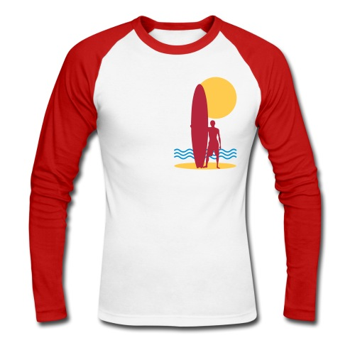 Surfing sport design - Men's Long Sleeve Baseball T-Shirt