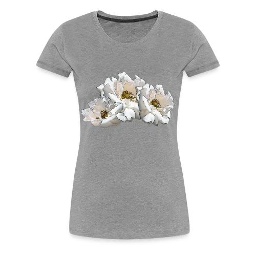 Drei Rosen Collage - Frauen Premium T-Shirt