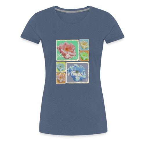 Vintage-Rosen Collage - Frauen Premium T-Shirt
