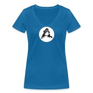 Buchstabe A - Frauen Bio-T-Shirt mit V-Ausschnitt von Stanley & Stella