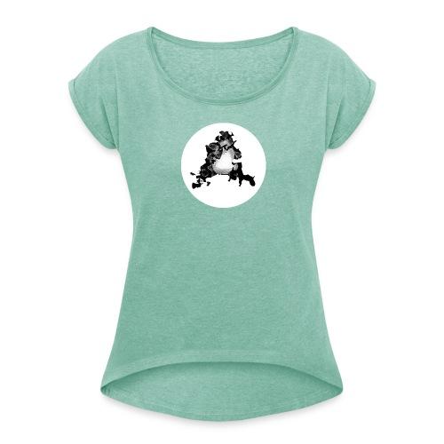 Buchstabe A - Frauen T-Shirt mit gerollten Ärmeln