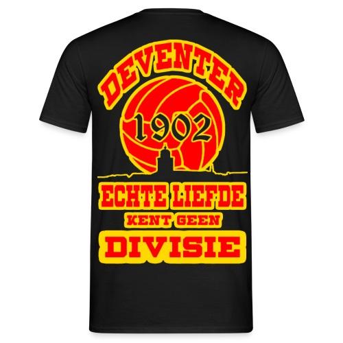 Deventer Echte liefde kent geen divisie - Mannen T-shirt