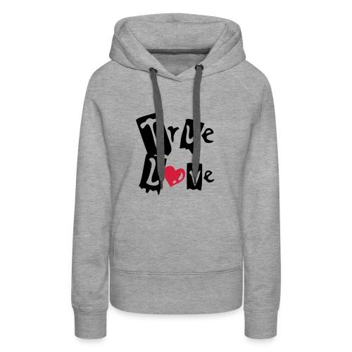 True Love, Hood (black & red) - Women's Premium Hoodie
