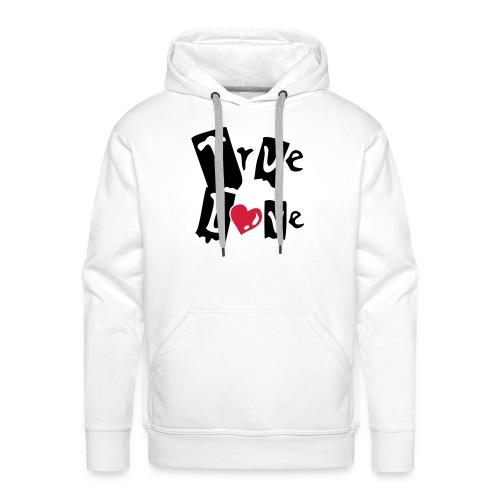 True Love, Hood (black & red) - Men's Premium Hoodie
