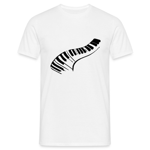 Piano (black) - Men's T-Shirt