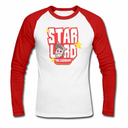 Starlord Baseball Tee - Men's Red Logo - Men's Long Sleeve Baseball T-Shirt