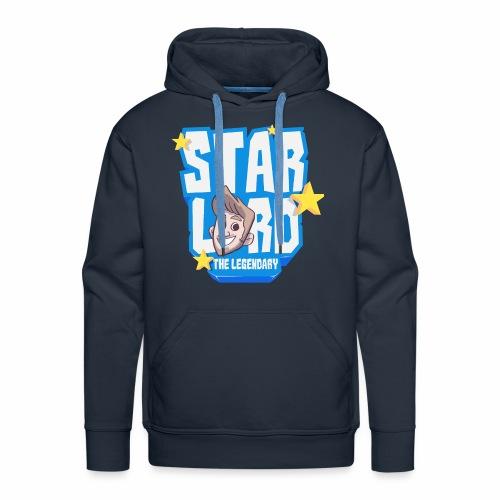 Starlord Men's Hoodie - Blue Logo - Men's Premium Hoodie