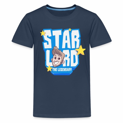 Starlord Teen Tee - Blue Logo - Teenage Premium T-Shirt