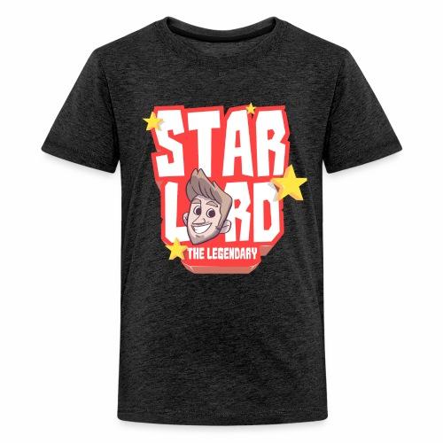 Starlord Teen Tee - Red Logo - Teenage Premium T-Shirt