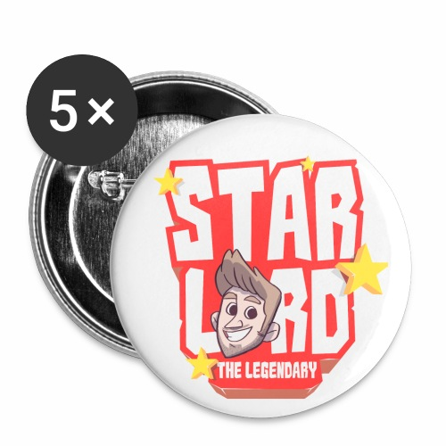 Starlord Button - Red Logo - Buttons small 25 mm