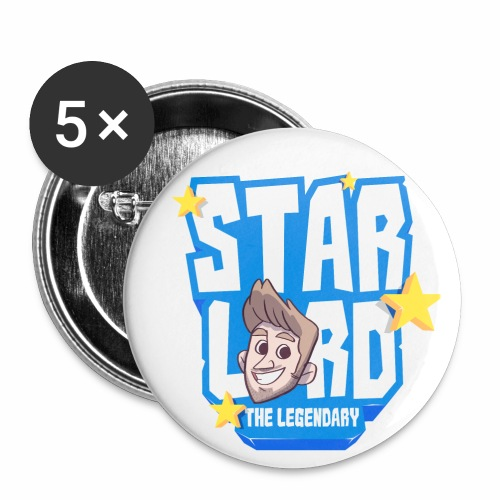 Starlord Button - Blue Logo - Buttons small 25 mm