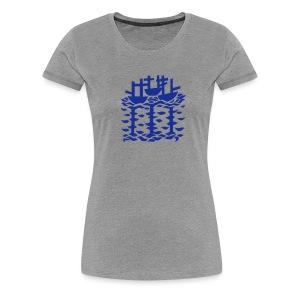 Three Ships mural (Sally Roydhouse) (hers) - Women's Premium T-Shirt