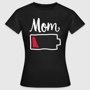 Tired Mom | Low Battery Symbol T-Shirts - Frauen T-Shirt
