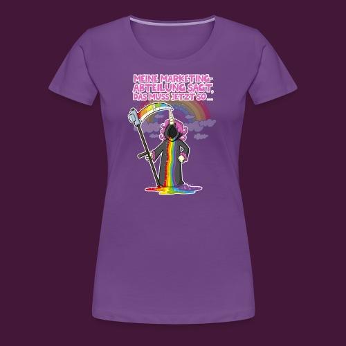 Einhorn Marketing - Frauen Premium T-Shirt