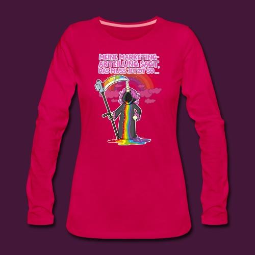Einhorn Marketing - Frauen Premium Langarmshirt