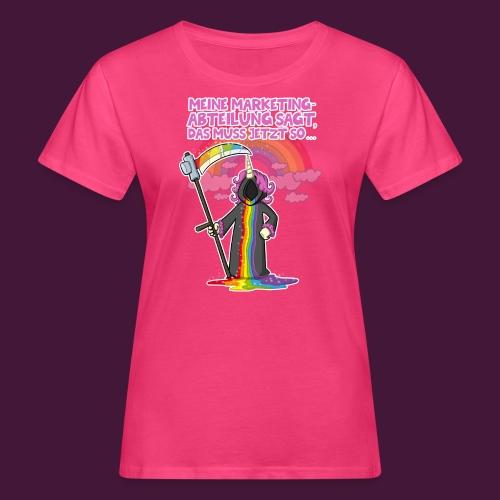 Einhorn Marketing - Frauen Bio-T-Shirt
