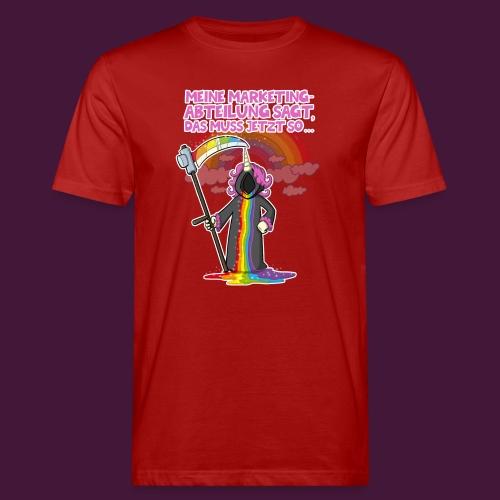 Einhorn Marketing - Männer Bio-T-Shirt