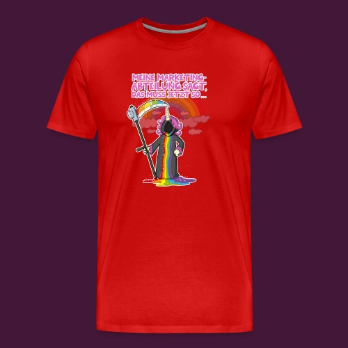 Einhorn Marketing - Männer Premium T-Shirt
