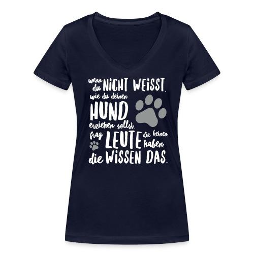 Frauen T-Shirt mit V-Ausschnitt - Hunde erziehen  - Frauen Bio-T-Shirt mit V-Ausschnitt von Stanley & Stella